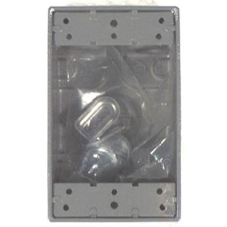 Bell Outdoor 5332-0 Gray Single Gang Weatherproof Box