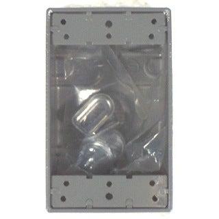 Bell Outdoor 5330-0 Gray Single Gang Weatherproof Box