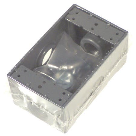 Bell Outdoor 5324-0 Gray Single Gang Weatherproof Box