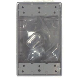 Bell Outdoor 5322-0 Gray Single Gang Weatherproof Box