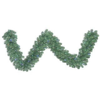 Vickerman 9' x 14 Oregon Fir Garland with 100 Multi-Colored LED Lights