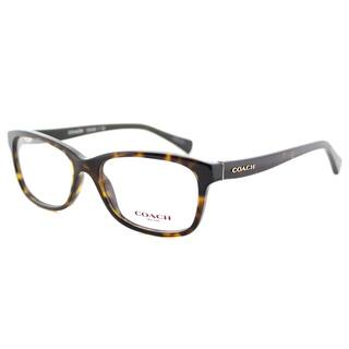 0fe0a211582 Coach HC 6089 5120 Dark Tortoise Plastic Rectangle Eyeglasses