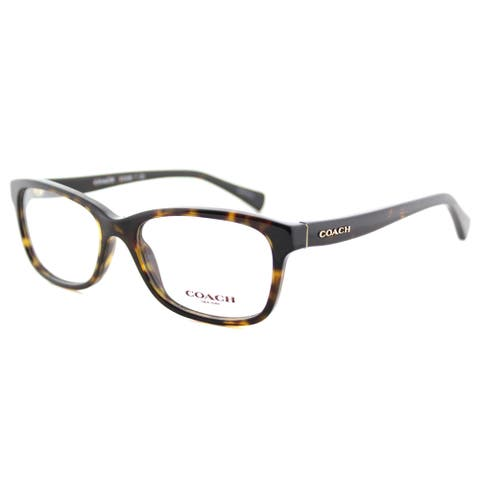 Coach HC 6089 5120 Dark Tortoise Plastic 51-millimeter Rectangle Eyeglasses