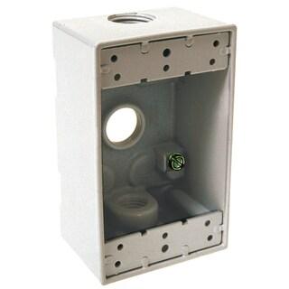Bell Outdoor 5320-6 White Single Gang Weatherproof Box