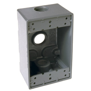 Bell Outdoor 5320-5 Gray Single Gang Weatherproof Box