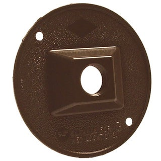 """Bell Outdoor 5193-7 4"""" Bronze Single Outlet Weatherproof Round Lampholder Covers"""