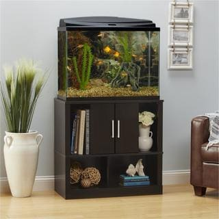 Ameriwood Home Laguna Tide 29 - 37 Gallon Espresso Aquarium Stand