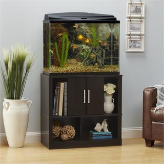 Ameriwood Home Laguna Tide 29   37 Gallon Espresso Aquarium Stand