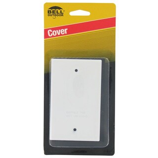 Bell Outdoor 5173-6 White Single Gang Blank Switch Plate Cover