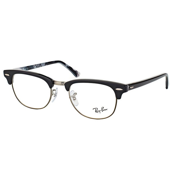 2bc7c6e2aa8 Ray-ban RX 5154 5649 Clubmaster Black Logo Plastic 51-millimeter Eyeglasses