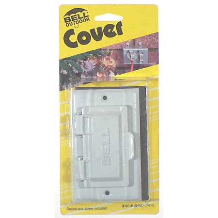 Bell Outdoor 5101-6 White Single-Gang Weatherproof GFCI Box Cover