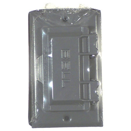 Bell Outdoor 5101 0 Gray Single Gang Weatherproof Gfci Box Covers Free Shipping On Orders Over 45 12369857