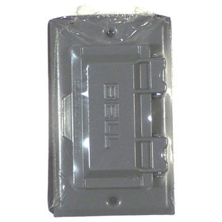 Bell Outdoor 5101-0 Gray Single Gang Weatherproof GFCI Box Covers