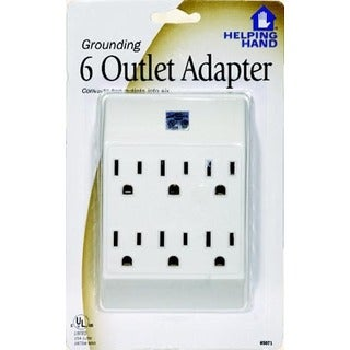Helping Hand 85071 Grounding 6 Outlet Adapter