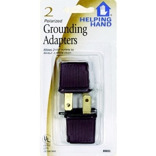 Helping Hand 85031 Black Polarized Grounding Adapters