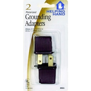 Helping Hand 85031 Black Polarized Grounding Adapters