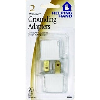 Helping Hand 85030 White Polarized Grounding Adapters
