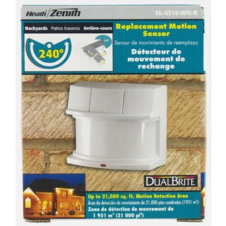 Heath Zenith White Metal Replacement Motion Sensor Motion-Sensing 500 watts
