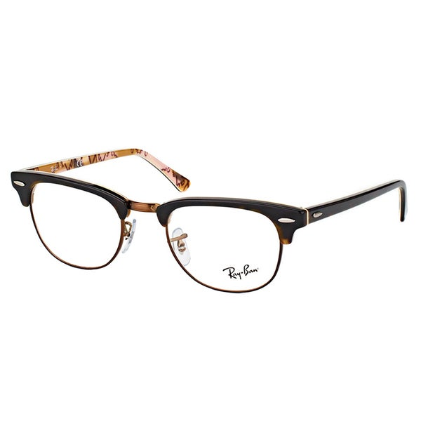 c6894c0024 Ray-Ban RX5154 5650 Clubmaster Havana on Logo Plastic 49-millimeter  Eyeglasses