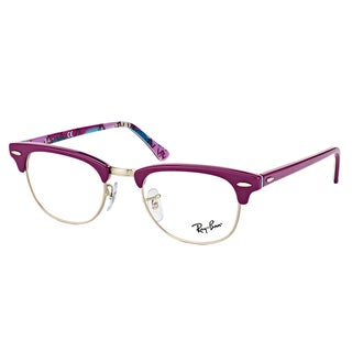 Ray-Ban RX 5154 5652 Clubmaster Violet on Logo 49-millimeter Plastic Eyeglasses