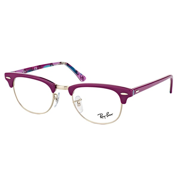 2e4afffdbe ... promo code for ray ban rx 5154 5652 clubmaster violet on logo plastic clubmaster  eyeglasses be039