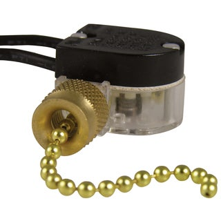 GB Gardner Bender GSW-32 Nickel Plated Pull Chain Switches