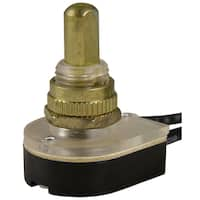 GB Gardner Bender GSW-25 Brass Push Button Switch