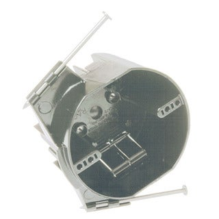 """Hubbell Raco 7824RAC 4"""" Round Ceiling Cable Box With Captive Nails"""