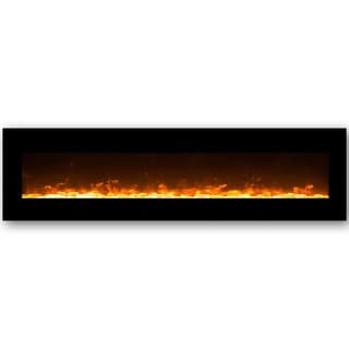 Gibson Living Lima Crystal 95-inch Indoor Wall-mounted Electric Fireplace