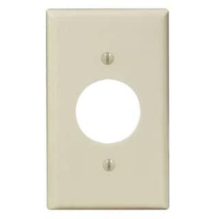 Leviton 001-86004-IV Single Gang Ivory Single Receptacle Wallplate