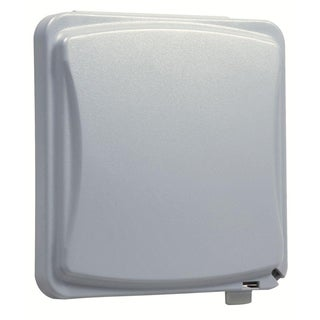 TayMac Rectangle Plastic 2 gang Receptacle Box Cover For Protection from Weather Gray