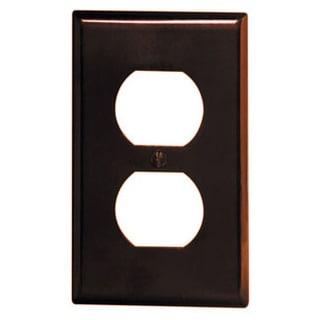Leviton 001-85003-BR Single Gang Brown Duplex Receptacle Wallplate