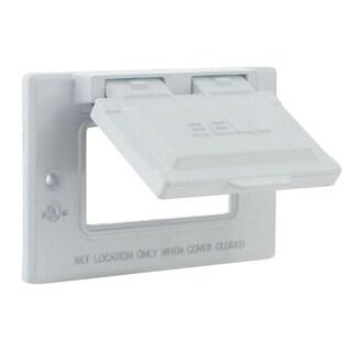 Raco 5101-1 White GFCI Horizontal Flip Cover