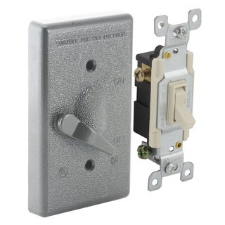 Raco 5141-5 3 Way Single Gang Vertical Mounted Switch Cover