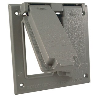 Raco 5145-0 Gray Two Gang GFCI Cover Box Mount