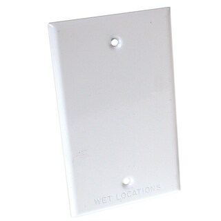 Raco 5173-1 1 Gang White Blank Device Mount Cover