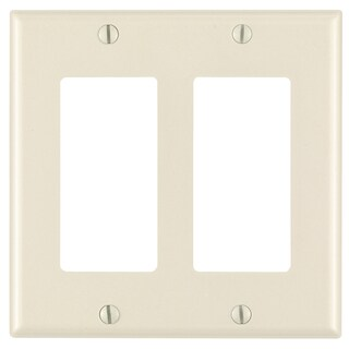 Leviton 001-80409-00T Light Almond 2 Gang Decora Wall Plate