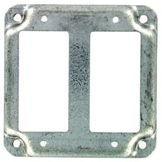 Raco Square Steel 2 gang Electrical Cover For 2 GFCI Receptacles Silver|https://ak1.ostkcdn.com/images/products/12369994/P19195414.jpg?impolicy=medium
