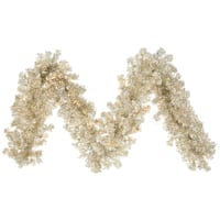 9-foot x 12-inch Champagne Garland With 70 Clear Dura-Lit Lights