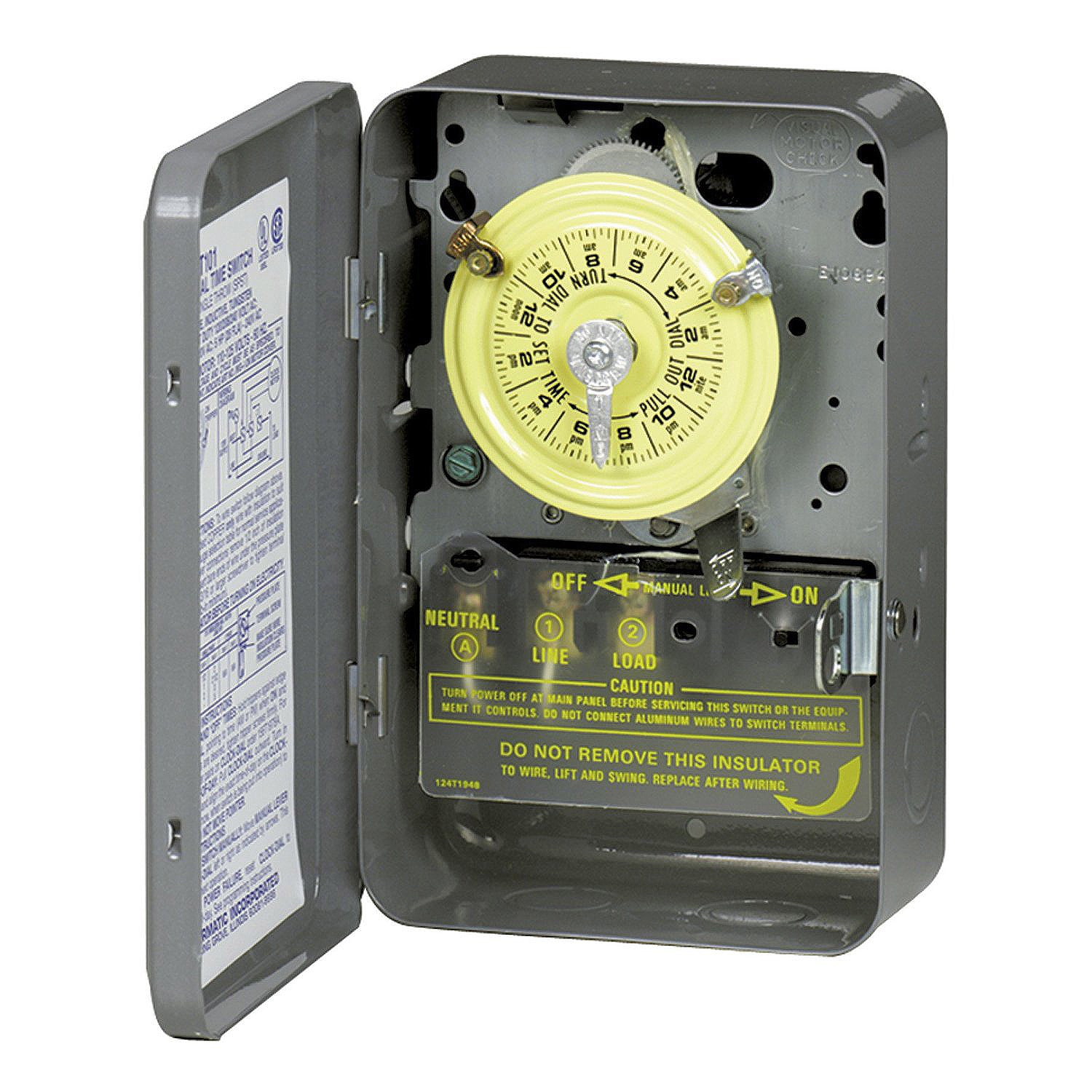 Intermatic T104 40 Amp Type 1 Steel (Silver) Mechanical T...