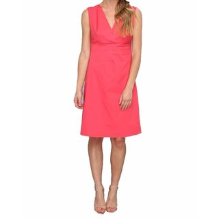 Elie Tahari Women's Sonya Coral Cotton Dress