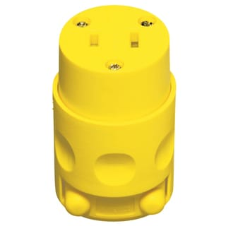 Leviton 000-115CV-000 15 Amp Yellow 125 Volt Polarized Cord Outlet