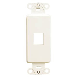 Leviton 000-41641-00I 1-Port Ivory Decora QuikPort Wall Plate Insert