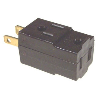 Leviton 000-531 Brown Cube Triple Tap Plug-In Outlet Adapter