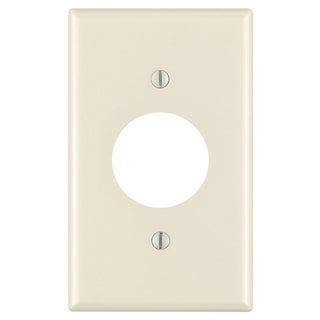 Leviton 000-78004-000 Light Almond 1 Gang Single Receptacle Wall Plate