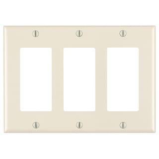 Leviton 011-80411-00T Light Almond 3 Gang Decora Wall Plate