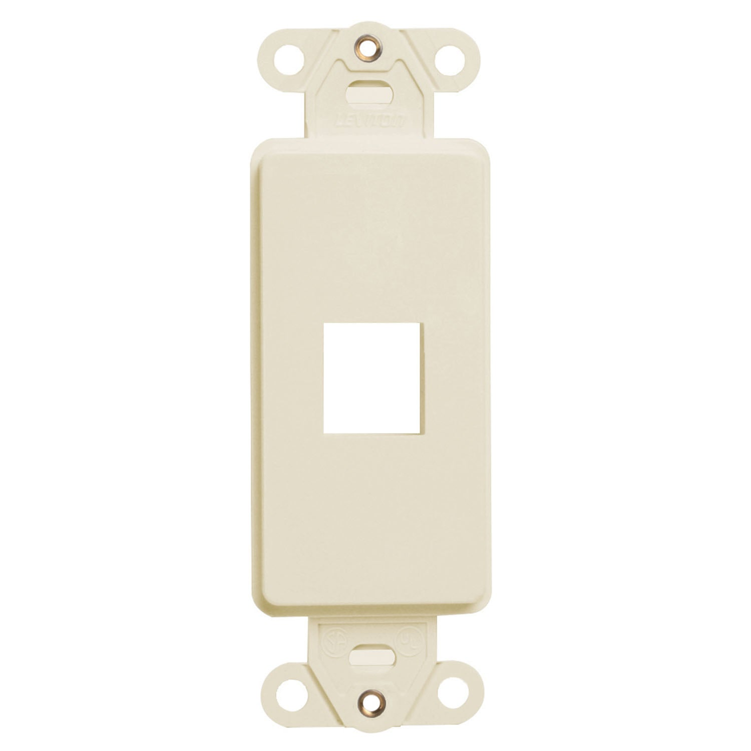 Leviton 006-41641-00T 1-Port Light Almond QuickPort Decora  Insert (Switches&outlet covers)