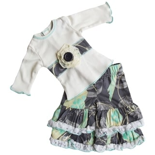 Ann Loren Boutique Birds and Lace Cotton 2-piece Outfit for 18-inch Dolls