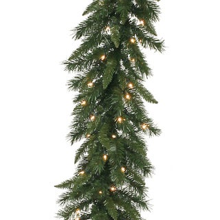 Vickerman 50-foot x 12-inch Imperial Pine Garland with 300 Clear Lights