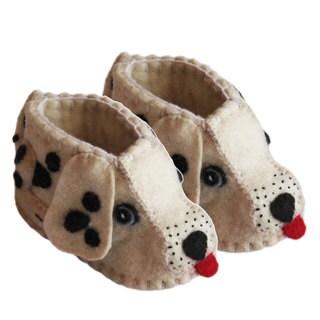 Handcrafted Felt Dalmatian Zooties Baby Booties (Kyrgyzstan)